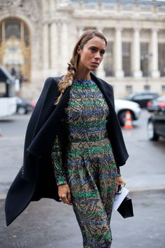 Paris Street Style - 2013 Haute Couture Parisian Street Style - Harper's BAZAAR
