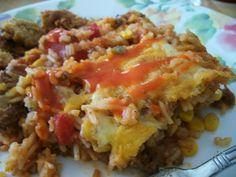 Spanish Rice A Roni Casserole Recipe Beef Casserole, Casserole Dishes, Casserole Recipes, Ricearoni Recipes, Crockpot Recipes, Dinner Recipes, Rice A Roni Spanish Rice Recipe, Mexican Dishes, Cauliflowers