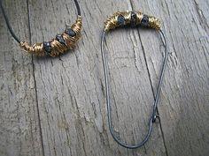 Drop earrings  Druzzy diamonds gold wrapped by BibbaLondon on Etsy, £60.00