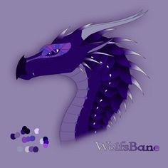 My OC form Wings of Fire Dragon Name: Wolfsbane Male Tribe: Nightwing/Rainwing Hybrid His father, Parrot, through unbreakable will and devotion, won the affection of Wolfsbane's mother, Shadowcast;...