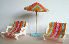 Sun chairs and a parasol