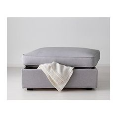 KIVIK Footstool with storage - Orrsta light gray - IKEA$169  may go with harnosand discontinued gray couch