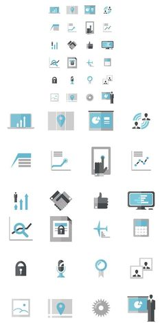 Modern Business Data Icons. UI Elements. $10.00