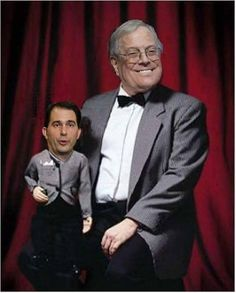 The Koch Brother comedy act bring out their new puppet