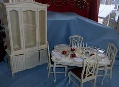 Vintage 1978 Marx Sindy Dining Room Breakfront Table Chair ~ HAVE ALL
