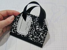 """Scrappin' Becky B.: Re-Post! Altered Mini Composition Book """"Purse"""" Tutorial"""
