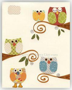 love owls for nursery theme!