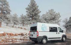 The Biggie Dodge Ram ProMaster Van Conversion by Native Campervans Van Conversion Shower, Van Conversion Interior, Camper Van Conversion Diy, Mercedes Sprinter Camper Van, Half Moon Bay Camping, Campervan Rental, Campervan Ideas, Grand Canyon Camping, Luxury Van