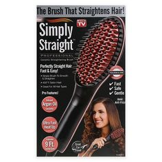 Simply Straight Professional Brush - Ceramic Straightening Brush - As Seen On TV