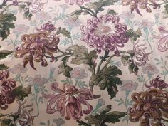 Vintage Liberty Heavy Cotton Interiors Fabric 'Edgeworth' Chrysanthemums in Collectables, Sewing/ Fabric/ Textiles, Fabric/ Textiles | eBay