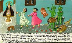 Сёстры Моралес возвращались с рынка и, проходя по переулку, повстречали марсиан, которые начали им что-то говорить своими пронзительно высокими голосами. Сёстры перепугались, побросали корзины и бросились бежать. Однако любопытство заставило их вернуться и осторожно заглянуть в переулок. Они увидели, как марсиане с радостью поедают брошенные продукты. Сёстры благодарны Деве Сапопанской, что инопланетяне не захватили и не забрали их с собой, а всего лишь хотели поесть.