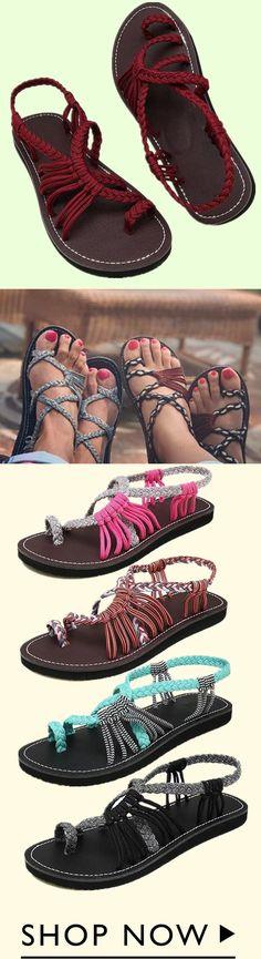 Nananova Lace-up Beach Sandals Beach Shoes, Beach Sandals, Bohemian Sandals, Cheap Shoes, Miu Miu Ballet Flats, Cute Shoes, Fashion Shoes, Shoe Boots, Lace Up