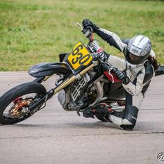 The lovely Sofi Tsingos getting a knee down on her 2008 Honda CRF450 Supermoto. Sofi is from Texas and until recently has been working at A...