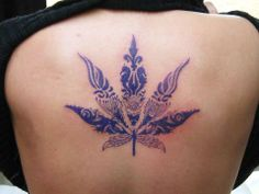 My friend Terry did this. I would never get a pot leaf tatted, but I still think it's amazing.