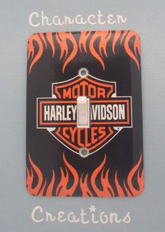 $12.00 HARLEY DAVIDSON Standard Metal Light switch Cover (Switch plate Switchplate) https://www.facebook.com/photo.php?fbid=136366559882569=pb.115224581996767.-2207520000.1366235753.=3