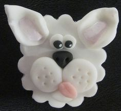 Hand made fondant cupcake topper- I just love it! Puppy Cupcakes, Fondant Cupcakes, Cupcake Cakes, Cupcake Art, Cupcake Toppers, Cupcake Ideas, Cake Decorating Classes, Cookie Decorating, Cake Shapes