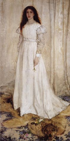"James McNeill Whistler ""Symphony in White no.10: The White Girl Portrait of Joanna Hiffernan"" 1862"