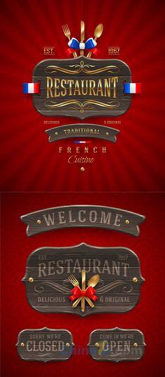 Restaurant banner design-vector template