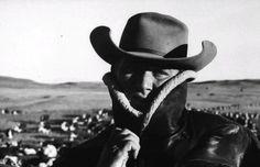 a cowboy on a long cattle-drive from south dakota to nebraska, 1960 • grey villet