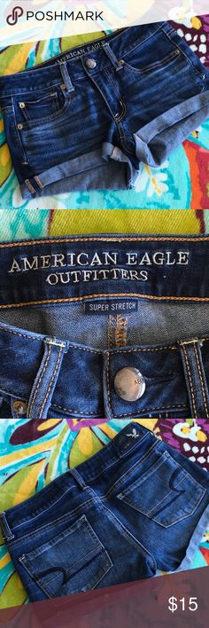 AEO Shortie Shorts These shorts are in brand new condition!  I am posting more in this Size today so check my closet.   Non smoker home and I give bundle discounts! American Eagle Outfitters Shorts Jean Shorts