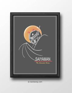 <b>P082- Saiyaman The Animated Series</b>   Inspired by Dragonball Z and Batman the animated series logo. *Frame not included*  Size: <b>21cm x 29.7cm (A4) 250GSM Texture paper</b>  Print will be shipped in a cardboard tube and registered mail in<b> 5-10 business days</b> time.  Check my...