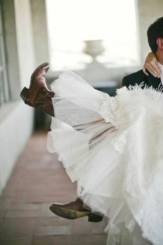 it is very possible that I pair my wedding dress with cowboy boots one day…maybe a glammed up pair at that..