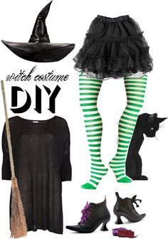 """""""diy halloween witch costume"""" by maria-maldonado ❤ liked on Polyvore"""