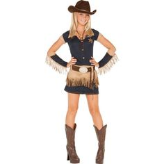 Teen Girls Quickdraw Cutie Cowgirl Costume - i might be this for halloween don't really know yet Tween Halloween Costumes, Fairy Costume Kids, Costumes For Teenage Girl, Halloween Kostüm, Girl Costumes, Adult Costumes, Costumes For Women, Costumes Uk, Mermaid Costumes