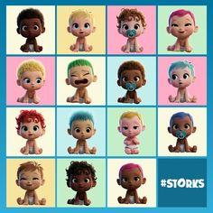 Storks movie photo so cute Kid Character, Character Design, Storks Movie, Baby Movie, Estilo Disney, Ange Demon, Family Movie Night, Boss Baby, Gadgets