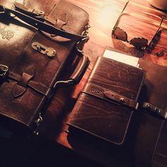"""Colonel gear on point today. #leathergoods #handmade"" Instagram: @cameronpowellstudio"