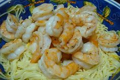 Lemon Pasta with Roasted Shrimp...delicious!!!
