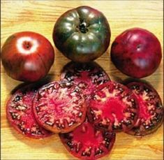 Black Krim tomatoes.