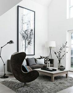 Blanco en paredes para ampliar visualmente el salón