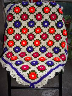 Granny Square all'uncinetto coperta...Baby culla coperta...Maglieria colorato Patchwork afgano di Lap...