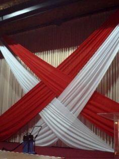 Black Red White Backdrop Wedding Ceremony Pinterest