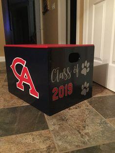 Cheer box. High school cheerleader. Box painting ideas ...