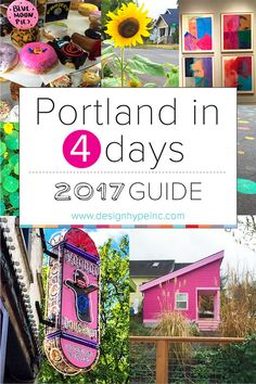 Portland in 4 Days Must Do's, 2017 Travel Guide. See, Eat, Shop, Hike and more! Carefully curated to help you navigate each neighborhood in order to have more time to explore! #pdx #travel #oregon #portland