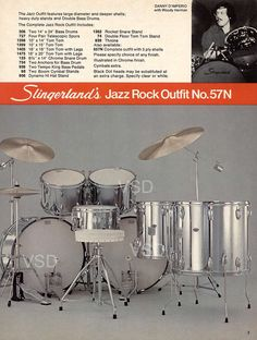 From 1977-1978 Slingerland Drum Catalog: Jazz Rock Outfit w/ drummer Danny D'Imperio