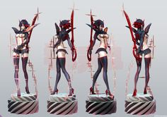 ZERONIS's Kill La Kill Matoi ryuko part2 by Leslyzerosix.deviantart.com on @DeviantArt