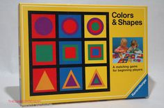 Colors Shapes Matching Game from Ravensburger 1987 Complete | eBay