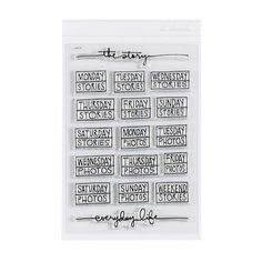 Stamp Set: The Story  at Ali Edwards