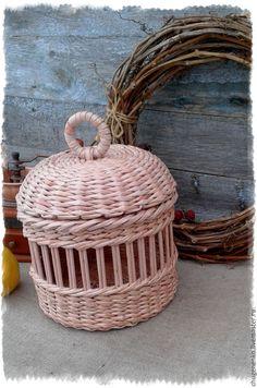 Купить Корзина плетеная для фруктов Шила милому кисет, вышла рукавица - бежевый, для дома и интерьера