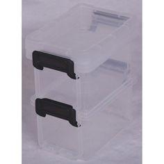 Boîte de rangement Little boxen plastique, L. 8.2 x P. 12.2 x H. 7 cm, 0.3 L