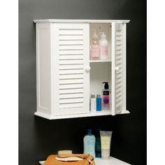 White Wood Double Shutter Door Bathroom Wall Cabinet 1600904 At Victorian Plumbing Uk