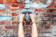 Blue Wedges Collage Vintage & Krack