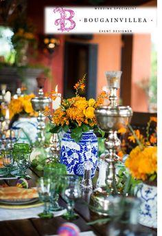 Maneras muy tradicionales de decorar la mesa de tus invitados por www.bougainvilleabodas.com.mx Bodas San Miguel