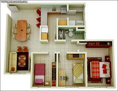 Modelos de Casas Pequenas e Baratas para construir!   Meia Colher