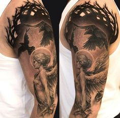 Arm Engel Vogel Tattoo Motiv