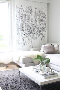 light tones in a living room