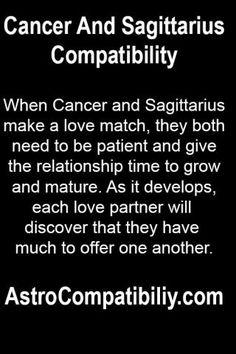When Cancer and Sagittarius make a love match....